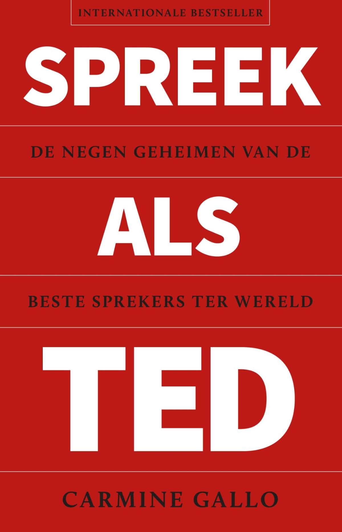 Spreek als TED - Carmine Gallo